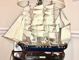 Mike's model ship, Troy, NY