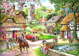 Ray Cresswell-painting-village