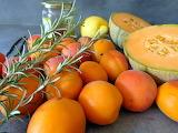 Abricot, melon et romarin