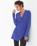 LIVE. LOUNGE. WEAR. Draped-Front Tunic Royal Blue