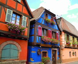 Colored houses-France