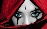 Blue eyes - red scarf