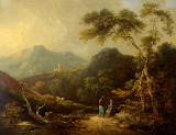 Landscape with figures by Charles Henry Schwanfelder