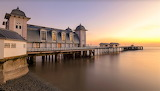 Early morning Penarth Pier South Wales United Kingdom