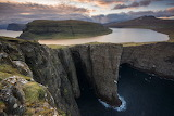 Lake in Mountain, Sorvagsvatn, The Faroe Islands