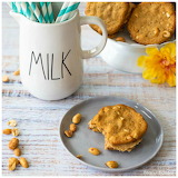 ^ Crunchy peanut butter cookies with peanut butter filling
