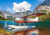 Hydravion posé sur un lac