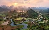 China Yangshuo-Arr. Guangxi-Provincie