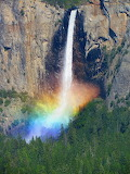 Waterfall Rainbow in Yosemite
