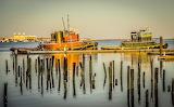Tugboats on Boston Harbor