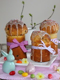 Decorated Easter panettone