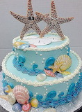 Starfish wedding cake @ cakes by kim