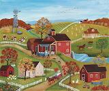 Joe's Mill~ autumn wallpaper Mary Singleton