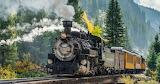 Train à vapeur en montagne