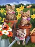 ☺♥ Cute little gardeners...