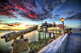 The Embarcadero at Sunset San Diego California USA