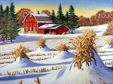 Farm Winter~ JohnSloane hdwallpaper.cat