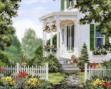 ^ Fred Swan ~ Cottage and flowers