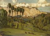 The Mountains of Carrara - Hans Thoma