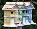Colorful Row House Style Bird House