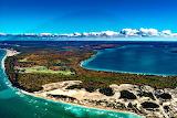 Crystal Lake in Fall Michigan USA
