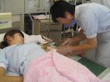 Enfermeira Teiko Tamae e Mituki Aiko