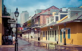 French Quarter New Orleans after rain shower