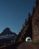 Mountain Tunnel @ night