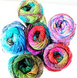 Brightly colored yarn