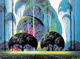 trees, Eyvind Earle