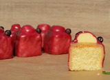 ^ Blackcurrant and mint fondant fancies