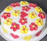 Flowery cake @ idatschka.de