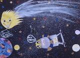Giotto/Halley's Comet Children's Art, HQ-PHOTO-1986.X.22.1-12