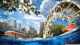 Global warming global sea level rise-artistic