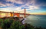 A Golden Morning Breaks California USA