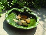 Fontaine céramique verte