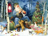 Colours-colorful-Christmas-painting-by Tom Newsom