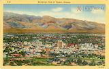 """""""Bird's Eye View of Tucson, Arizona"""" postcard"""