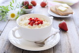 ^ Rice Pudding with Strawberries