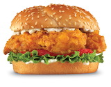 ^ Chicken sandwich burger