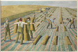 Evelyn Dunbar, Men Stooking and Girls Learning to Stook, 1940