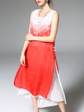 red & white dress