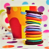 #Twelve Layer Rainbow Oreo- Betcha Can't Eat One!