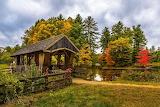 Wason Pond Covered Bridge Chester New Hampshire