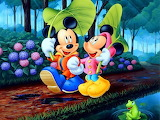Mickie and Minnie in the Rain