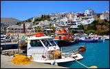 Crete, Agia Galini, harbour, coast guard boat