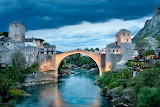 Old Bridge and Old City of Mostar Bosnia