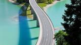 Sylvenstein Lake and Bridge, Bavaria