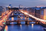 Saint-Petersburg. Bridges on the Fontanka