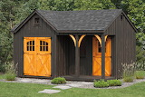 Shed w/ Gold Doors